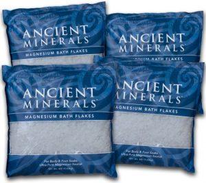 Magnezijevi kosmiči za kopeli Ancient Minerals 4 x 2,6 kg