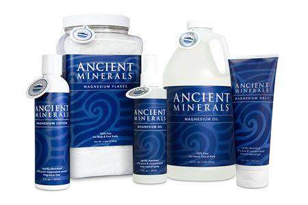Magnezij Ancient Minerals v pripravkih za čezkožno terapijo